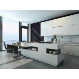 cozinha planejada de vidro